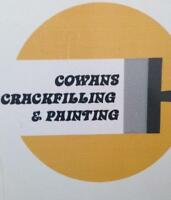 """Cowans Crackfilling And Painting"""