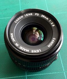 Canon FD 28mm f2.8 wide angle lens - quick sale