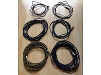 6 assorted Jack cables