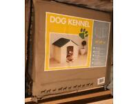 Plastic Dog Kennel brand new but box tatty