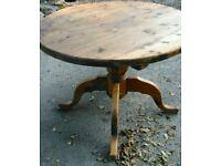 "Reclaimed Pine Circular Round Pedestal Dining Kitchen Table 40"" diameter"