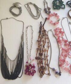 Joblot Bundle Costume Jewellery Necklaces Braclets Earrings Pins Tiara