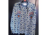 Vintage Lawrence Airline Pattern Shirt L