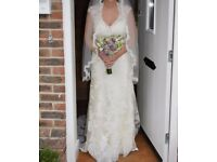 Size 14 Alfred Angelo Wedding Dress & Veil.