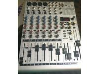Mixer with preamps and effects. Eurorack 1204fx-pro