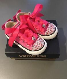 Girls customised converse Infant 6