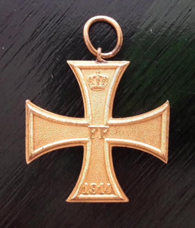 GERMANY german order award golden cross FF 1914 crown badge Auszeichnung Kriege