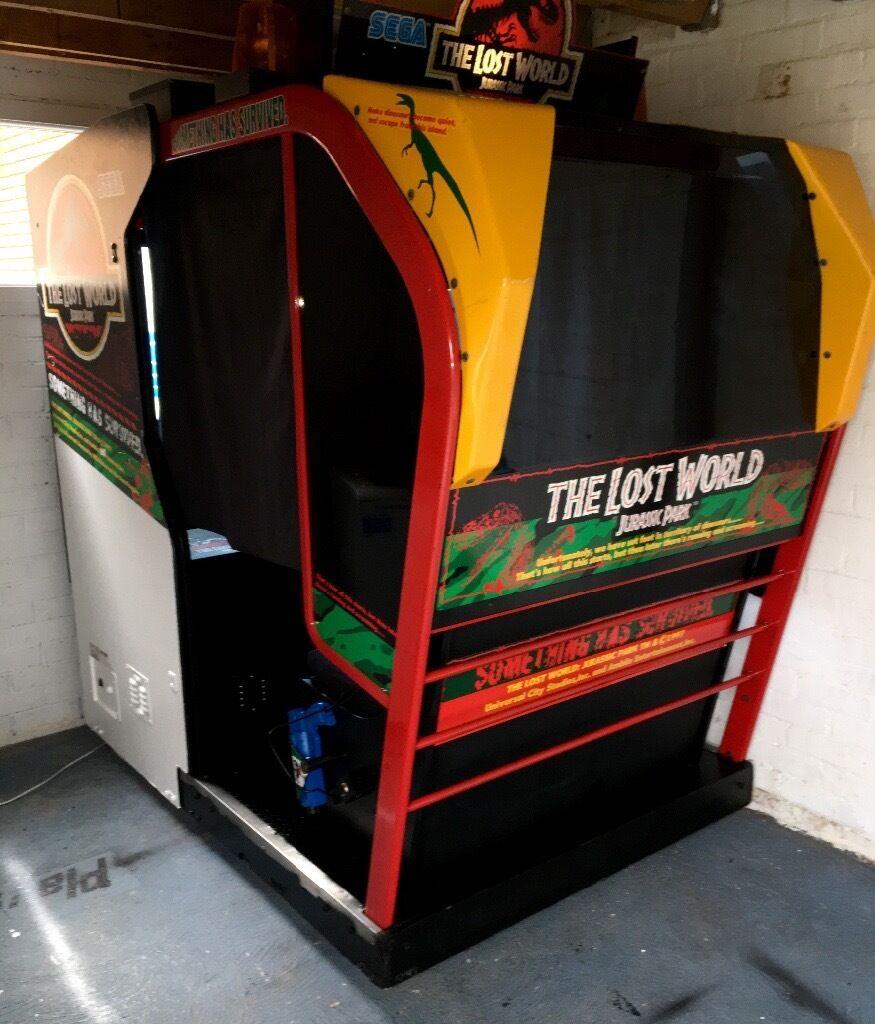 SEGA Arcade Machine - Deluxe Cabinet - The Lost World Jurassic ...