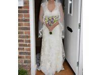 Size 14 Alfred Angelo Wedding Dress & Veil