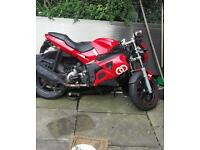 Gilera dna 125cc reg as 50cc spares or repairs swap for a moped will add cash!!!