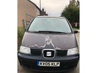 2005-05 SEAT ALHAMBRA REFERENCE 1.9 TDi Large MPV. Start & Drive. Spare or Repair