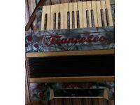 Antique Francesco Modello Italian Piano Accordian with case