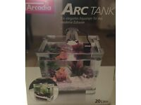 NEW Arcadia Arc tank 20 litres RRP £50 Tropical or cold water fish tank aquarium
