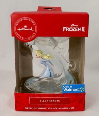 2020 Hallmark Walmart Exclusive Disney Frozen 2 ELSA & NOKK Xmas Tree Ornament