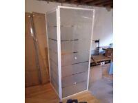 New Shower door enclosure 800x800mm white frame