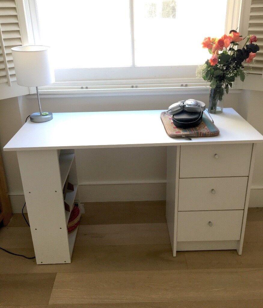 reputable site 09356 7e654 Argos Home Malibu 3 Drawer Desk - White BARELY USED   in Chelsea, London    Gumtree