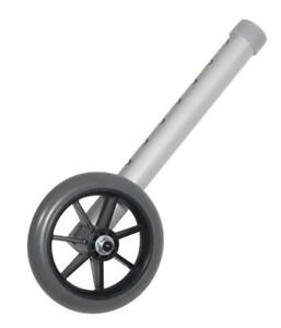 "NEW Drive Medical Universal 5"" Walker Wheels, Gray"