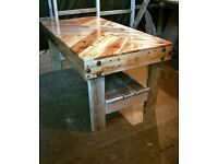 New Original Hand Built Rustic Coffee Table