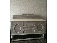 Large Solid Wood Vintage Sideboard Shabby Chic