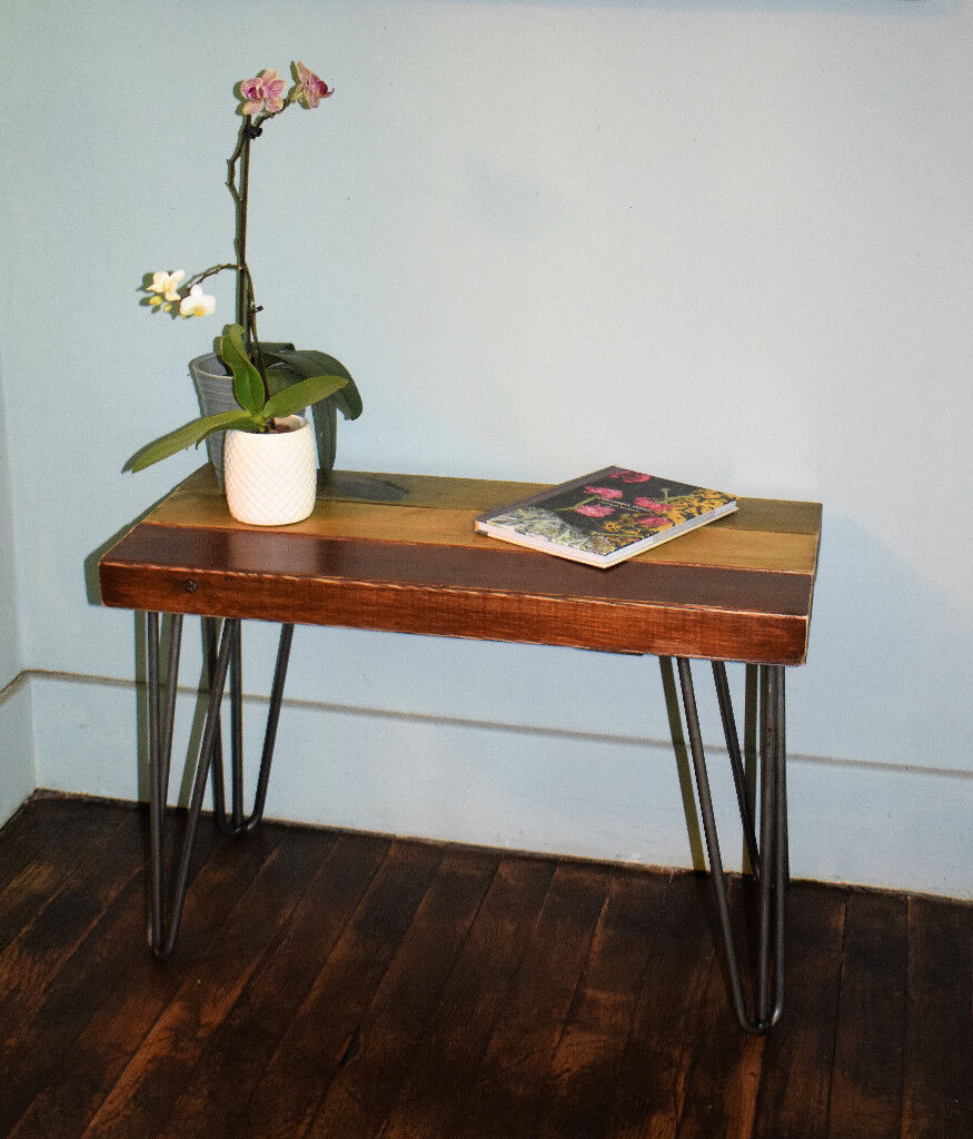 Industrial Hairpin Leg Side Table End Table Coffee Table In West