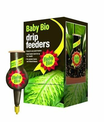 40 Baby Bio Original Drip Feeder Feed Food Fertiliser 40ml Flowers Plant Indoor