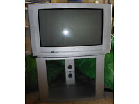 2002 Philips TV with stand and VHS Video Recorder for sale.