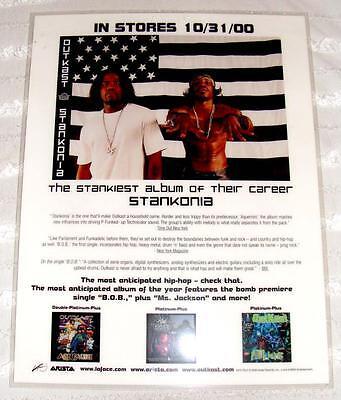 RARE In Stores 10/31/00 Unused Counter Sign OUTKAST STANKONIA Asista Album 038