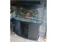 JUWEL VISION 260 FISH TANK WITH FLUVAL 306 EXTERNAL FILTER