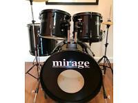 Mirage 5 Piece Drum Kit
