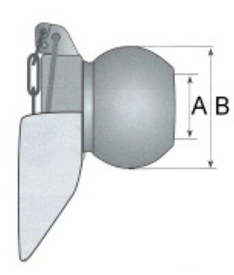 Unterlenkerkugel mit Fangprofil Kat. 2 - Unterlenker Kugel Fangschale