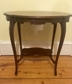 Ornate antique mahogany table