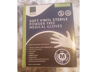 Box of Sterile, Latex-Free Medical Gloves – size M, brand new, cost £18.95 from Physique
