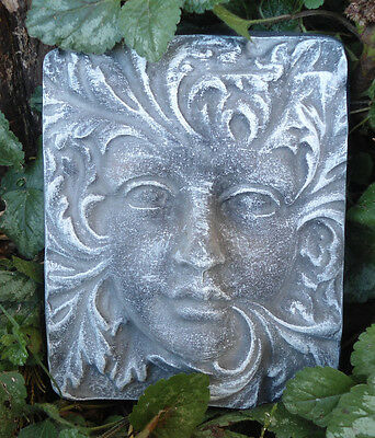 plaster concrete plastic mold greenlady garden fairy face mould casting mold on Rummage