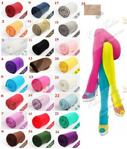 Autumn-Winter-OPAQUE-80D-PANTYHOSE-Stockings-Tights-Leggings-25-Candy-Colors