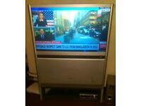 Toshiba 42 inch rear projection TV plus Stand