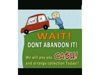 WANTED ALL SCRAP CARS WE BUY ALL CARS GOOD PRICE WE DO RECOVERY AS WELL