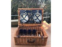 Retro Picnic Basket inc Full Cutlery Set, Plates, Cups and Glasses. £20ono