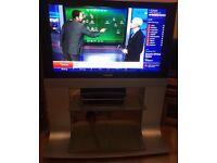 "Panasonic 37"" Digital Plasma TV on stand, superb picture"