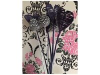 New Love Heart Pine Cone Glitter Twigs Tall Bunch Floor Standing Vases, x2
