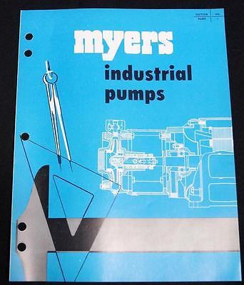 Myers Industrial Water Pumps Advertising Sales Brochure 1956 Vintage