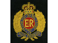 ROYAL ENGINEERS GOLD WIRE BLAZER BADGE BRAND NEW