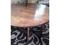 Vintage Oak Drop Leaf Gateleg Dining Table