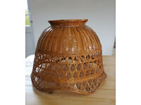 BAMBOO LAMP SHADE - VINTAGE / RETRO