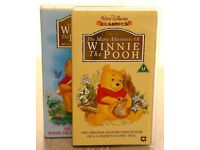 WINNIE THE POOH VHS CASSETTES - NEW AND UNUSED