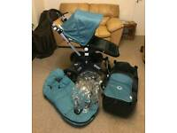 Bugaboo Cameleon 3 with petrol fabric and footmuff