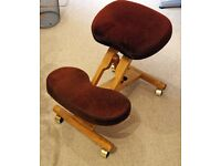 Wooden Kneeler Chair - adjustable by central screw