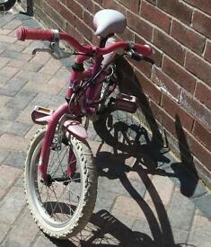 Girls pink stars bike