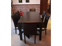 Black Table and Chairs.