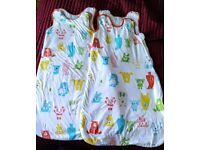 Two Grobag 18-24 month 2.5 Tog sleeping bags, cosy for winter