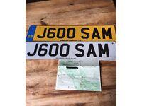 J600 SAM private number plate